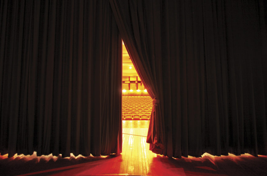 A theater stage in los angeles