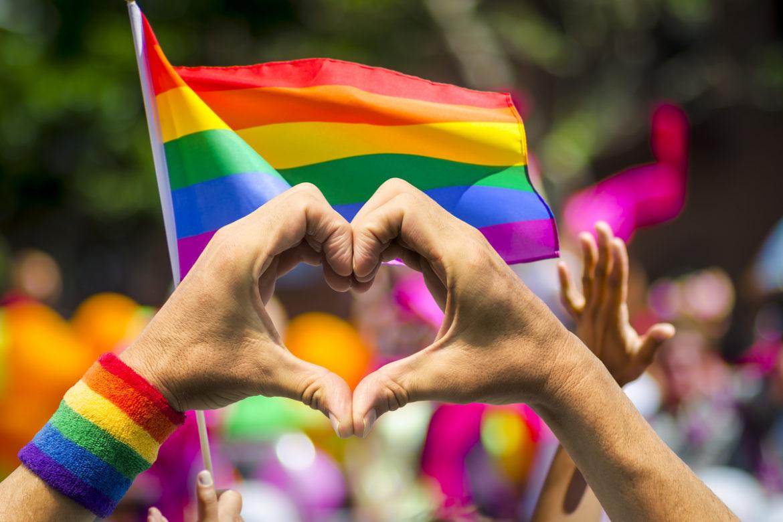 Pride parade in Los Angeles.